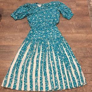 Vintage Maggy London by Jeannene Booher Silk Dress